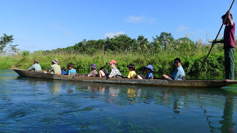 Early morning canoe ride